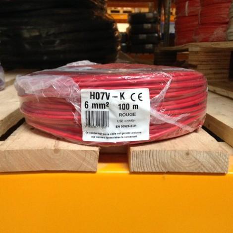 fil lectrique 6mm2 rouge souple h07vk 100m vk6rouge. Black Bedroom Furniture Sets. Home Design Ideas
