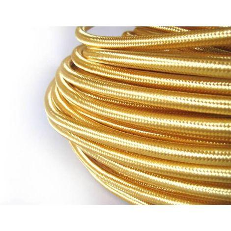 Fil électrique tissé de couleur Gold vintage look retro en tissu
