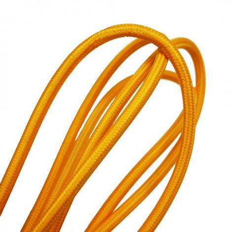 Fil électrique tissé de couleur jaune maïs vintage look retro en tissu