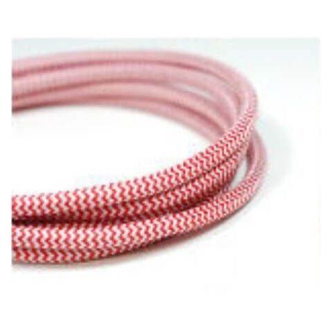 Fil /électrique tiss/é fresque rouge et blanc vintage look r/étro en tissu