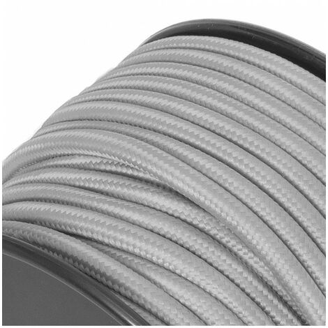 Fil électrique tissu - sur mesure - Gris