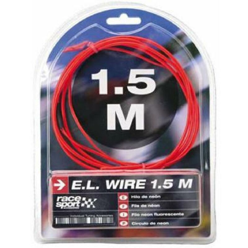 Fil neon - Effet Flash - 3m - Rouge