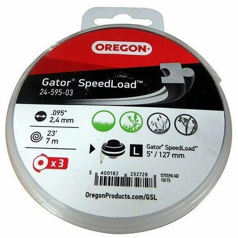 Fil Oregon débroussailleuse 3mm pour tete 24-550