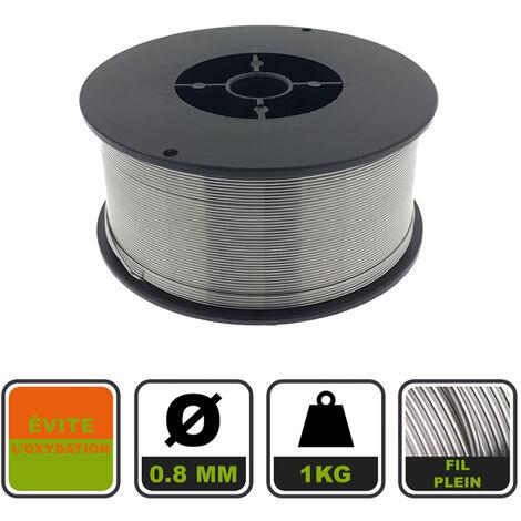Fil plein pour soudage MIG MAG ø 100 mm / Acier / ø 0.8 mm / 1 kg