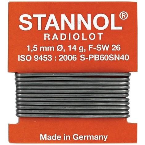 Fil soudure Radiolot Nr.508570 1m Stannol