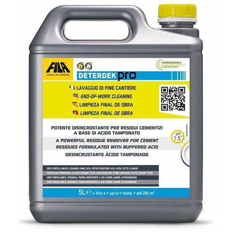 FILA 60400012 DETERDEK Desincrustante Ácido 1 litro