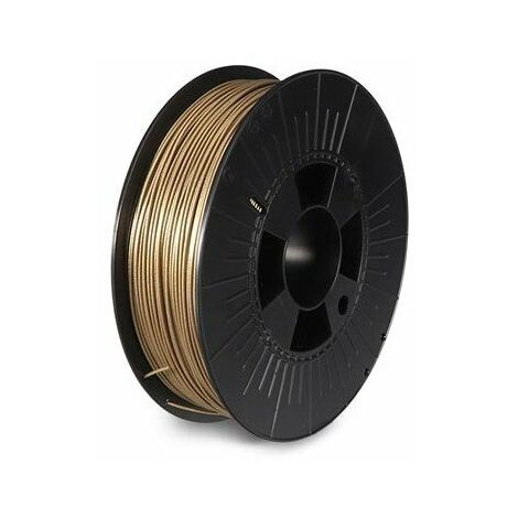 Filament pla 1 75 mm - or métallique - brillant - 750 g