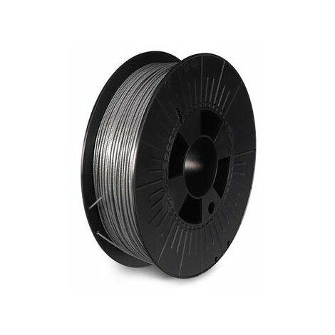 Filament pla 1 75 mm - argent métallique - brillant - 750 g