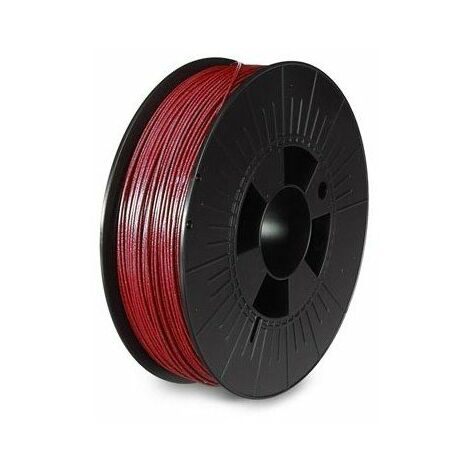 Filament pla 1 75 mm - rouge métallique - mat - 750 g