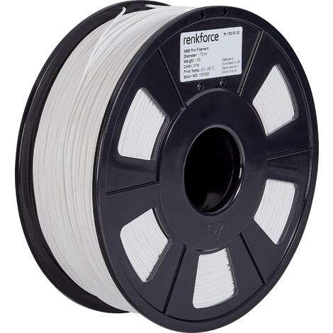 Filament renkforce ABS Pro, 1,75 mm, blanc, 1 kg S562751