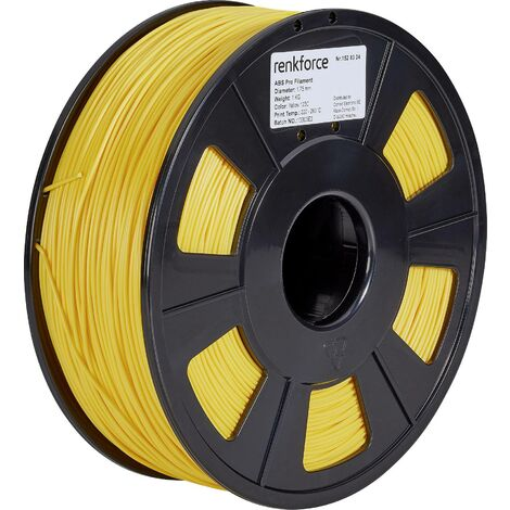 Filament renkforce ABS Pro, 1,75 mm, jaune, 1 kg S562711