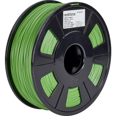Filament renkforce ABS Pro, 1,75 mm, vert, 1 kg S562781