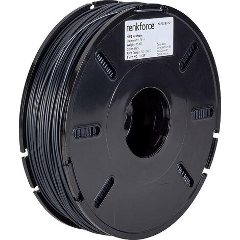 Filament Renkforce HIPS 1.75 mm noir, 500 g S562951