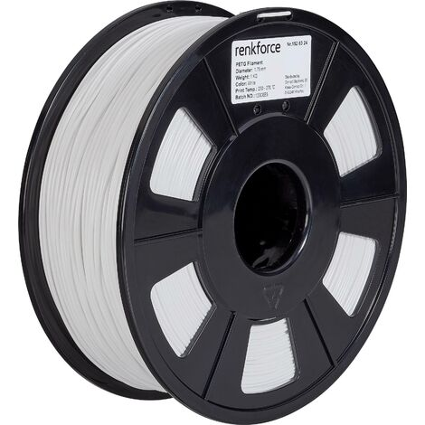 Filament renkforce PETG 1.75 mm blanc, 1 kg S562511