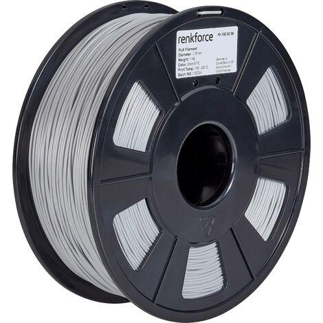 Filament renkforce PLA 1.75 mm argent, 1 kg S565081