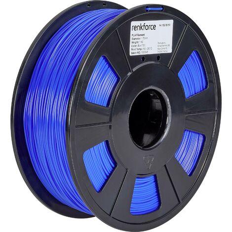Filament renkforce PLA 1.75 mm bleu, 1 kg S562321