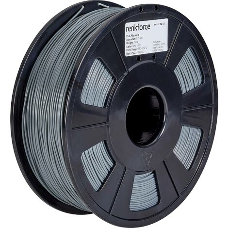 Filament renkforce PLA 1.75 mm gris, 1 kg S565021