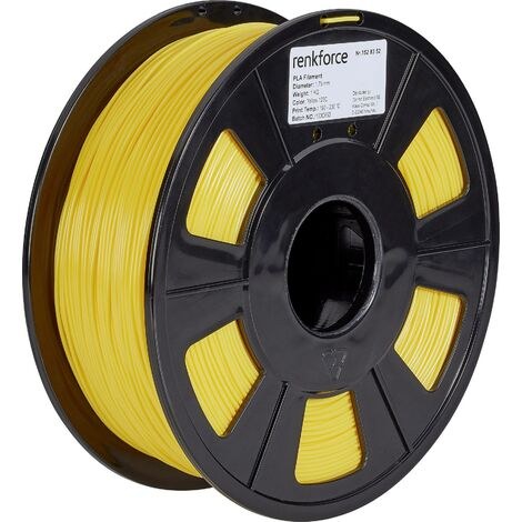 Filament Renkforce PLA 1.75 mm jaune 1 kg S562351