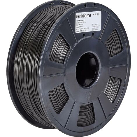 Filament Renkforce PLA 1.75 mm noir 1 kg S562101