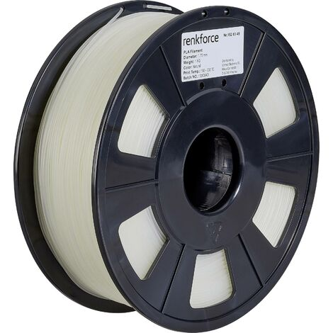 Filament renkforce PLA, 1,75 mm, transparent, 1 kg S562161
