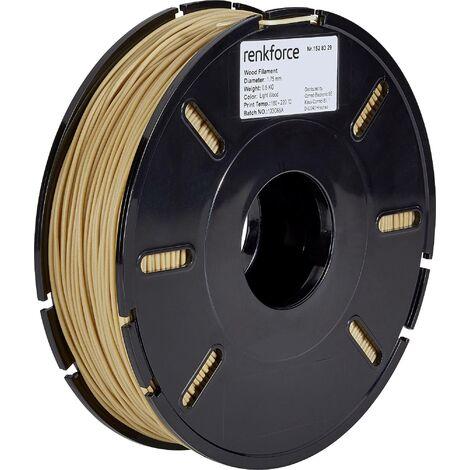 Filament renkforce PLA Compound 1.75 mm bois clair, 500 g S562501