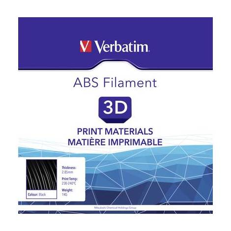 Filament Verbatim ABS Filament plastique ABS 2.85 mm noir 1 kg