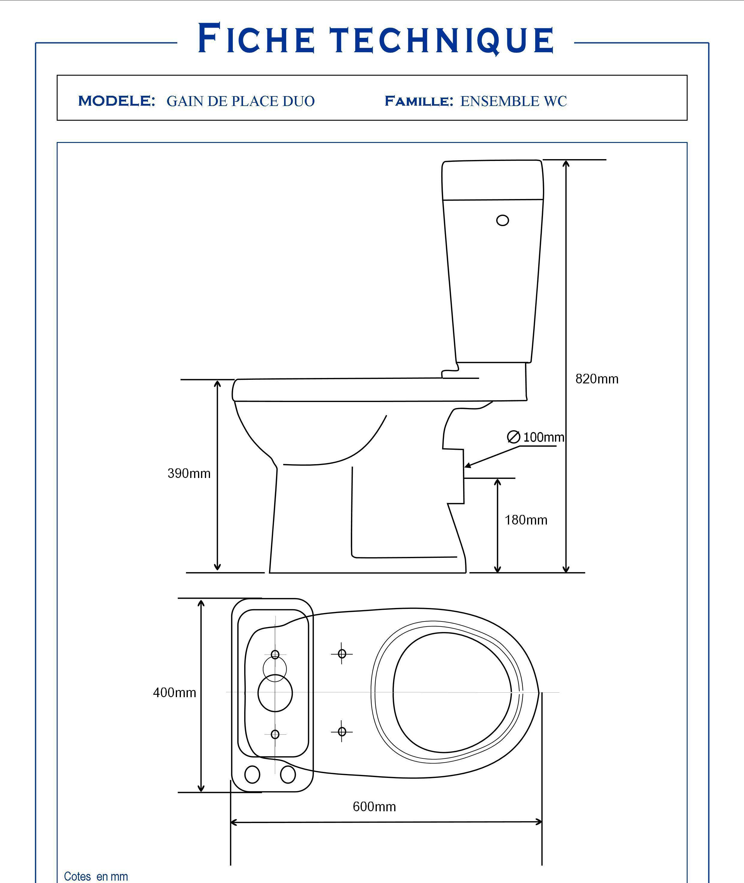 pack wc avec lave mains int gr gain de place sortie. Black Bedroom Furniture Sets. Home Design Ideas
