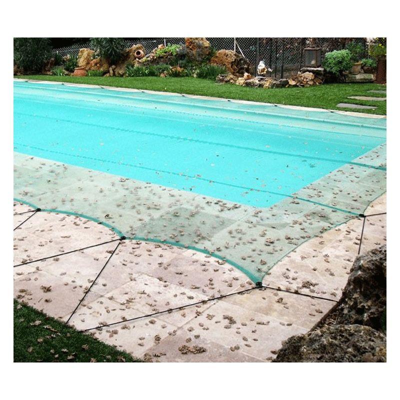 Filet anti-feuilles piscine avec 50 connecteurs (œillets clipsables) | Taille Filet: 6 x 12 m - DIRECT FILET