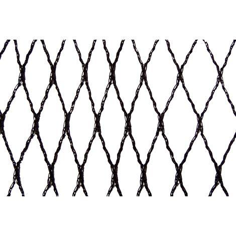 Filet anti-oiseaux - Maille de 15mm - Grande dimension Noir 10m x 100m - Noir