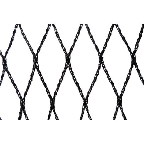 Filet anti-oiseaux - Maille de 22mm - Grande dimension Noir 4m x 100m - Noir
