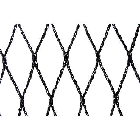 Filet anti-oiseaux - Maille de 22mm Noir 10m x 10m - Noir