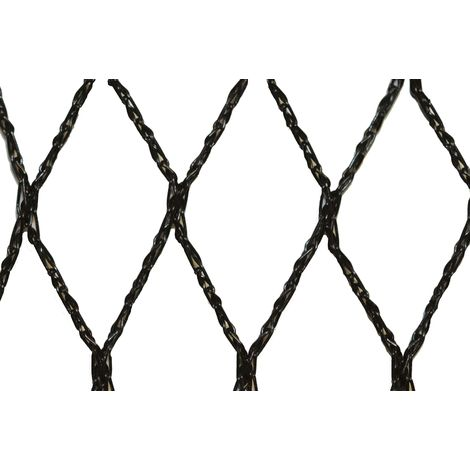 Filet anti-oiseaux - Maille de 35mm - Grande dimension Noir 10m x 100m - Noir