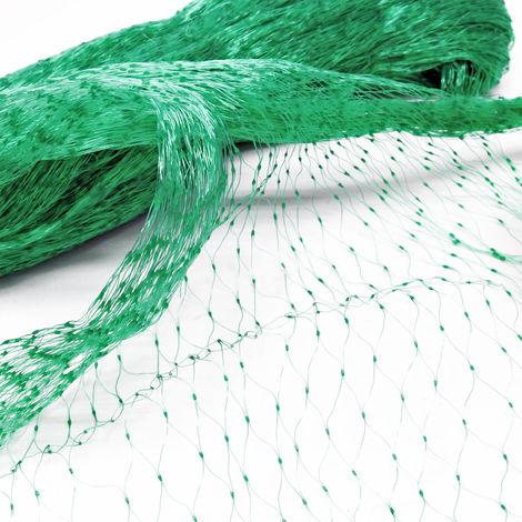 Filet anti-oiseaux Polyéthylène 2x5m Maille 15x15mm Résistant Intempéries et UV Protection Bassin