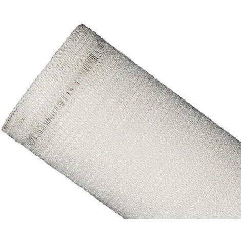 Filet Brise-Vue 85% - Blanc - 145g/m² - Boutonnières Blanc 3m x 50m - Blanc