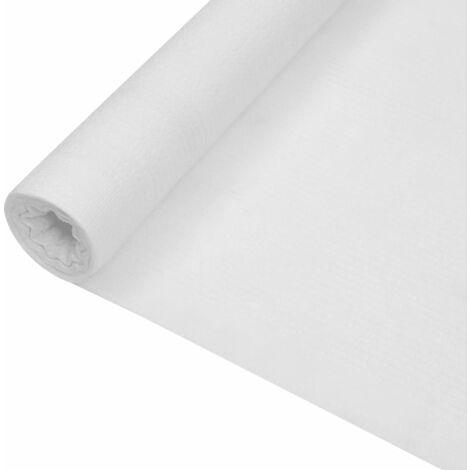 Filet brise-vue Blanc 1x10 m PEHD 195 g/m²