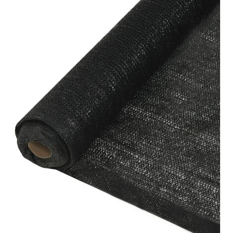 Filet brise-vue PEHD 1 x 25 m Noir