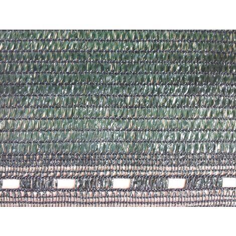 Filet Brise-Vue PEHD - Alternative aux produits lourds - Filet également d'ombrage - Finition boutonnières côtés Vert foncé