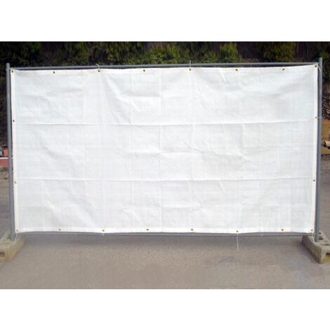 Filet de barrière de chantier 130g/m² Blanc 1.76 x 3.41m