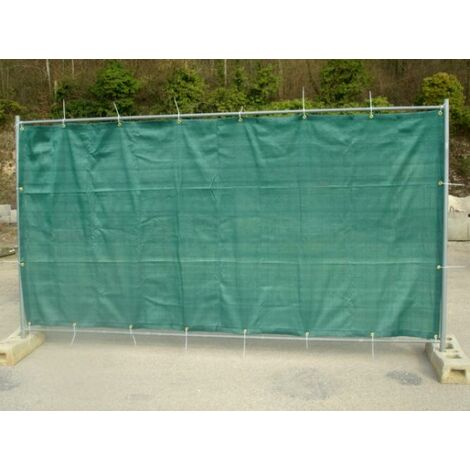 Filet de barrière de chantier 180g/m² Vert/Noir 1.76 x 3.41m