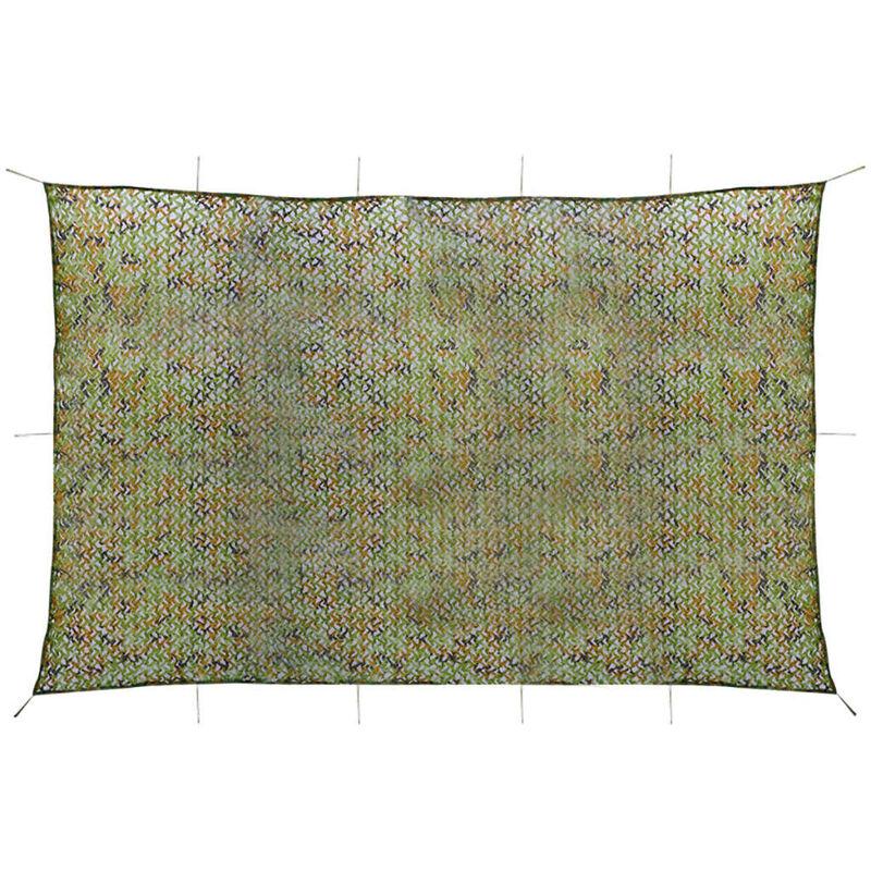 Vidaxl - Filet de Camouflage avec Sac de Rangement Vert 6x8 m