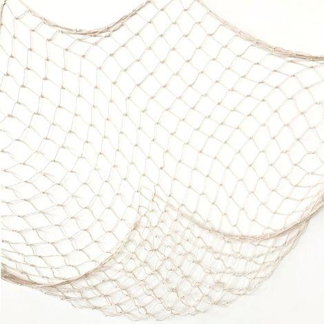 Filet de pêche blanc crémeux décor de thème de plage pour la maison de fête salon chambre 78 pouces décor de Style méditerranéen décoration murale