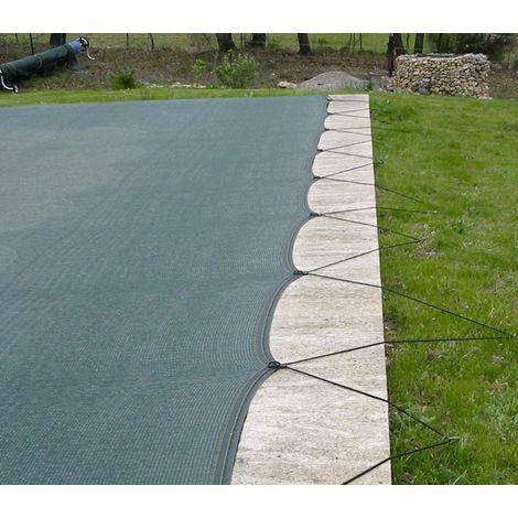 Filet de protection piscine anti-salissures 8x16m avec œillets clipsables
