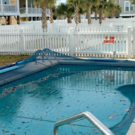 Filet de protection pour piscine rectangulaire 5 x 9 m