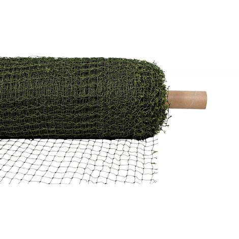 Filet de protection (rouleau: 75 × 2 M), renforcé par fil - 1 m², vert olive