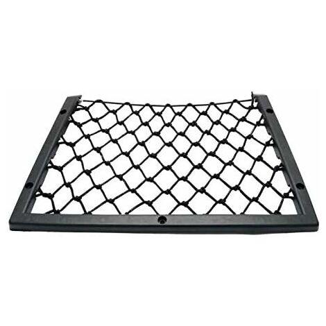Filet de Remorque rangement Voiture Filet Net élastique Sac Poche pour Coffre de Voiture Bouteilles, épicerie,Rangement Ajouter Filet 31.5*17.5cm Noir