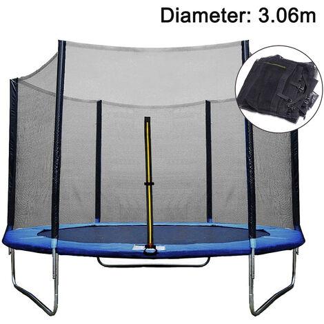 """main image of """"Filet de remplacement pour filet de sécurité pour trampoline Ø 306cm, filet de remplacement pour trampoline de jardin pour 8 piquets, filet extérieur, pièce de rechange indéchirable, résistant aux UV"""""""