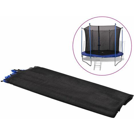 Filet de s¨¦curit¨¦ pour trampoline rond 3,05 m PE Noir
