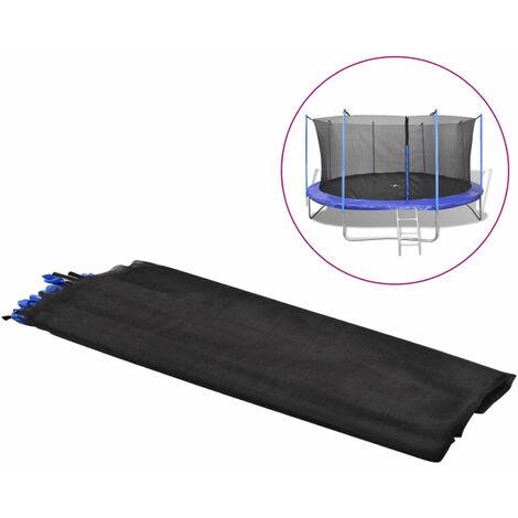 Filet de s¨¦curit¨¦ pour trampoline rond 3,96 m PE Noir