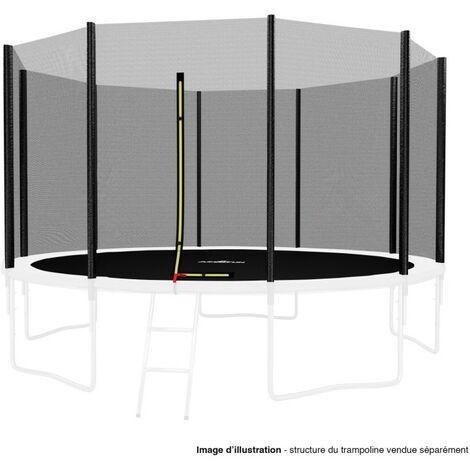 Filet de sécurité extérieur Universel pour trampoline 12FT ø366cm 10perches avec bouchons hauts de perches
