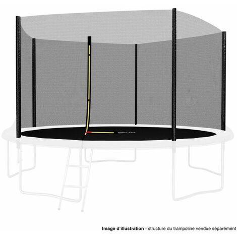 Filet de sécurité extérieur Universel pour trampoline 12FT ø366cm 5perches avec bouchons hauts de perches
